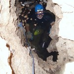 Danny Brinton diving in Deathtrap Cave