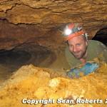 Bill Walker in a virgin cave.