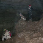 Bill Walker, Hayley Grasty, and Susan in Sharps Cave