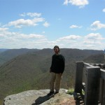 Cory at the New River Gorge overlook on the way home