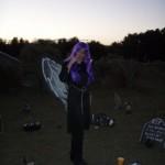 Marsha in the graveyard