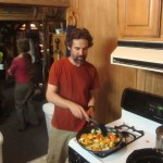 Matt Kalch cooks dinner for the entire Kvork