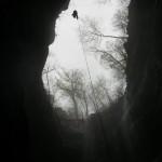 Adam Scherer climbing Neversink
