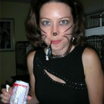 Marsha the beer drinking, mouse catching cat